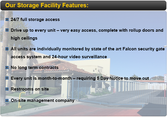 We Are The ONLY Storage Facility In Orange County That Offers 24 Hour  Access To Our Renters!